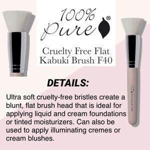 100% PURE: Flat Kabuki Brush F40